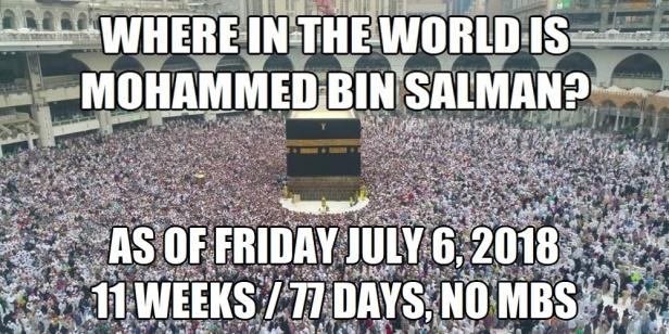 Mohammed bin Salman Where in the World 11 Weeks 77 Days