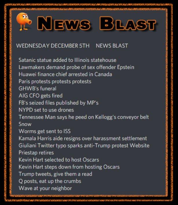 181205 News Blast by ENoCH