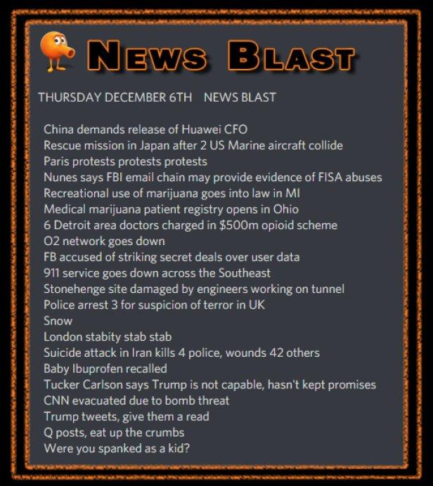 181206 News Blast by ENoCH