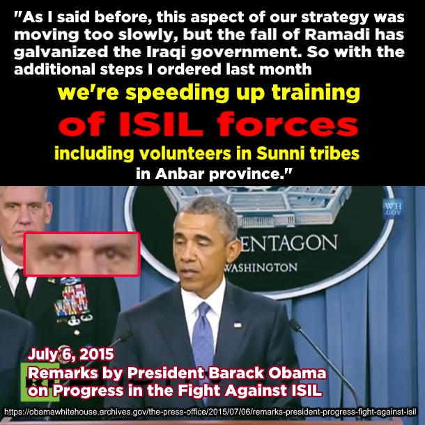 ! Obama Annoucning Training of ISL ISIS July 6 2015