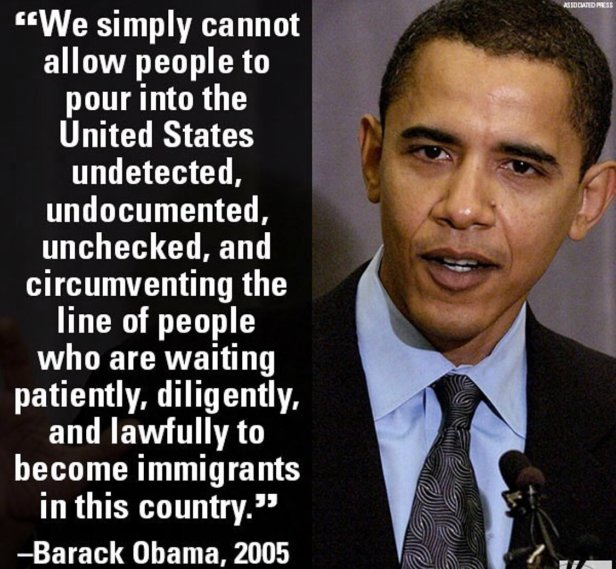 ! Obama on Keeping Immigrants out