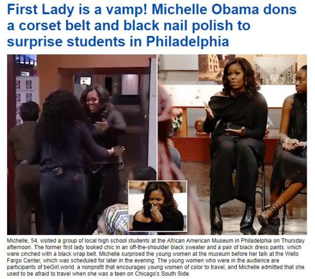 181129 Lady is a Vamp Michelle Obama