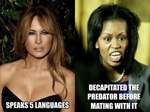 ^2a Michelle Obama Meliana Trump PREDATOR
