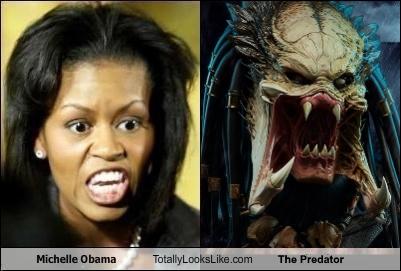 ^2b Comparison Michelle Obama and The Predator 2