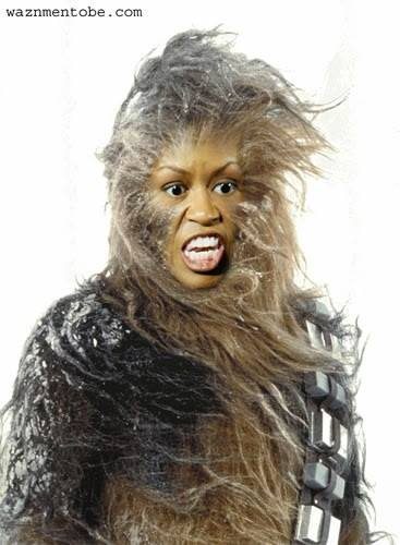 ^9 Wookie Chewbacca Michelle Obama