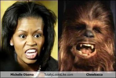 + Comparison Michelle Obama and Chewbacca Wookie