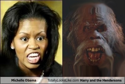 + Comparison Michelle Obama and Harry and the Hendersons