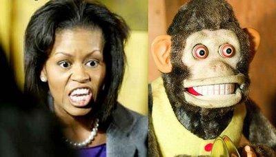 + Comparison Michelle Obama and Toy Monkey
