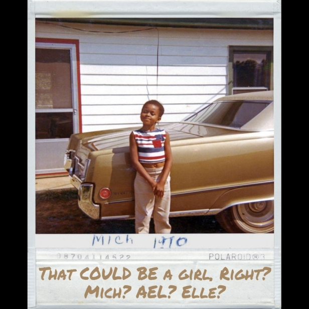 Mich Michelle Obama COULD be a girl, Right Poloriod Polaroid MEME square