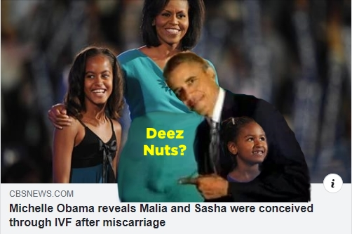 ! Michelle announces she used IVF for Malia DEEZ NUTS