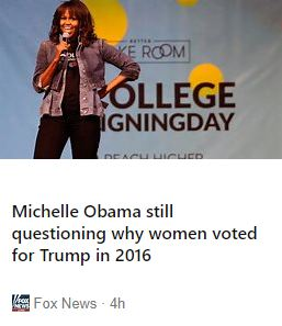 Star Trek Kirk Michelle Obama is having trouble identifying with female voters2