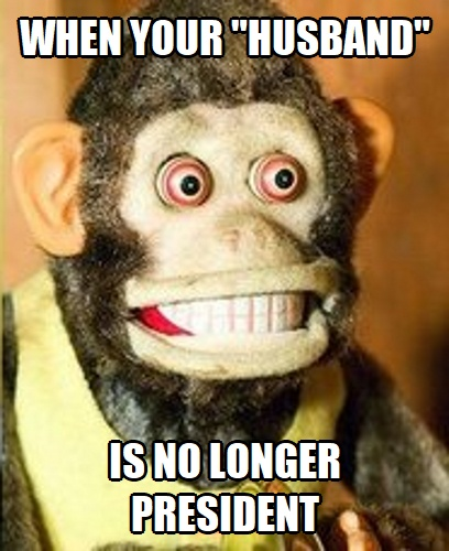 Toy Monkey When Your Husband is No Longer President
