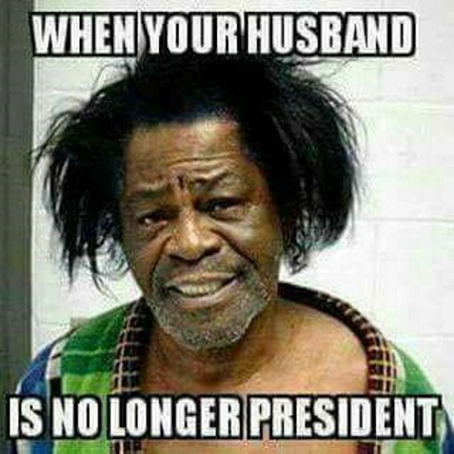! When you Husband is No Longer President James Brown