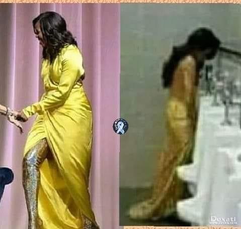 ! Yellow Dress Urinal Michelle Obama