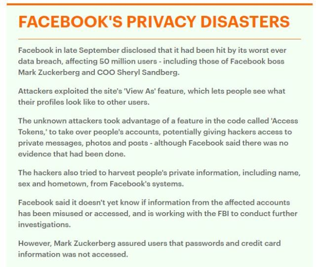 181122 Facebook Privacy Disasters